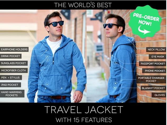 Kickstarter travel jacket crowdfunding
