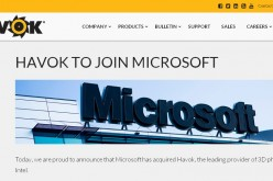 Microsoft acquisisce il motore fisico di Havok