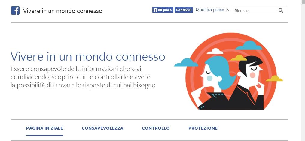 vivere in un mondo connesso facebook garante privacy sicurezza