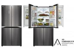 LG premiata per il design del frigorifero Dual Door-in-Door