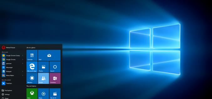 Microsoft lavora a un nuova UI per Windows 10