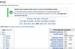 Wikipedia: ecco gli eventi più importanti del 2015