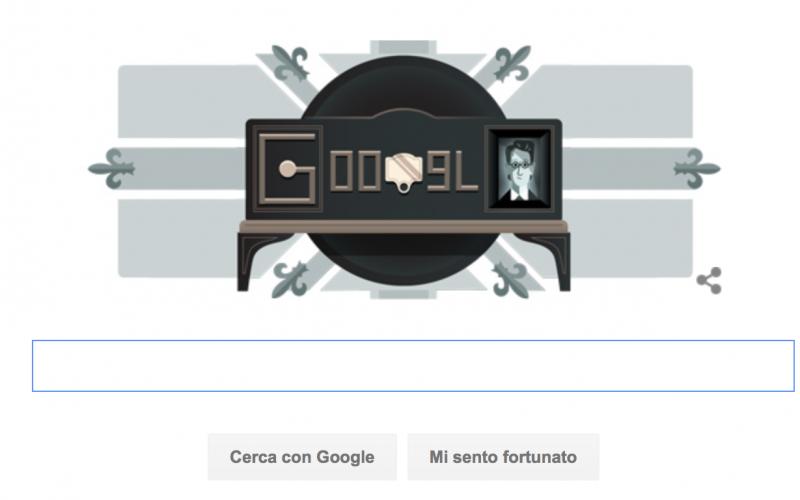 Google celebra la televisione, Doodle per la prima dimostrazione pubblica