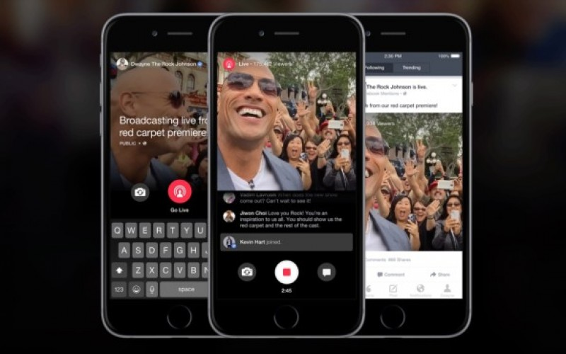 Facebook estende a tutti il live streaming