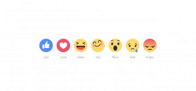 """Facebook: la Reaction più utilizzata è """"Love"""""""