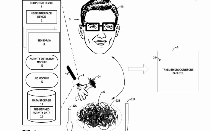 Google brevetta un wearable per l'assunzione di pillole
