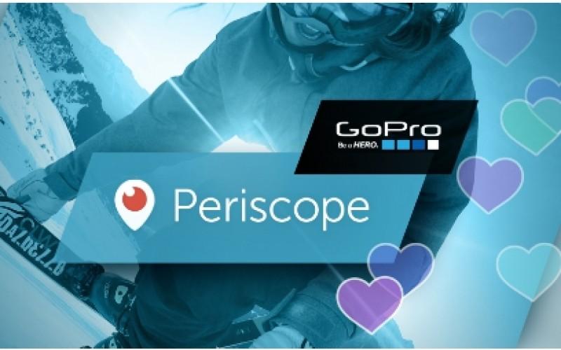 Periscope integra le sessioni live con GoPro
