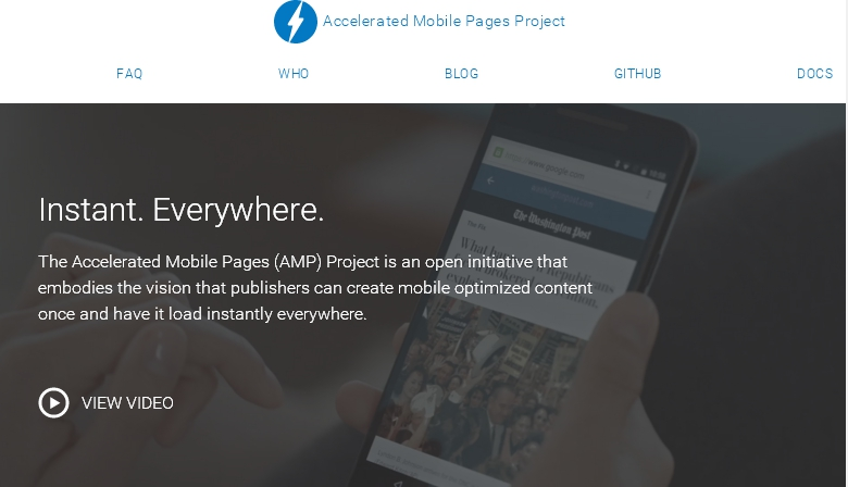 Accelerated Mobile Pages Project Google editoria news online