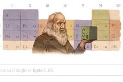 Un doodle per Dmitrij Mendeleev, l'inventore della tavola periodica