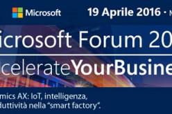 Fabbrica 4.0, IoT, Dynamics AX, CRM e Azure con Alterna al Microsoft Forum 2016