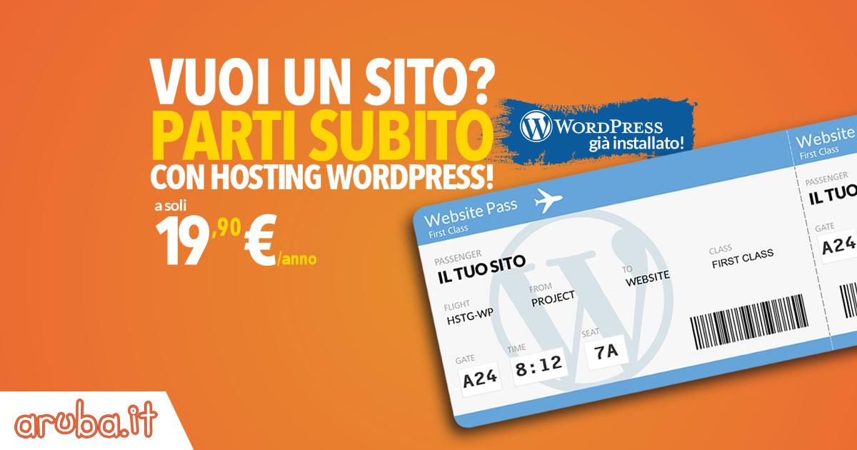 Aruba con Wordpress