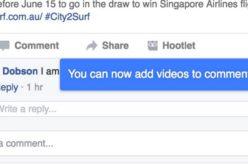 Facebook sperimenta i video nei commenti