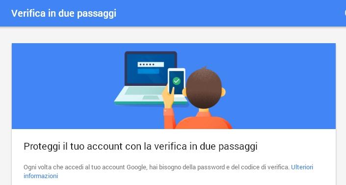google verifica 2 passaggi