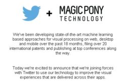 Twitter investe nel machine learning con Magic Pony