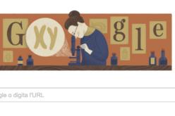 Doodle per Nettie Maria Stevens, la genetista che scoprì i cromosomi X e Y