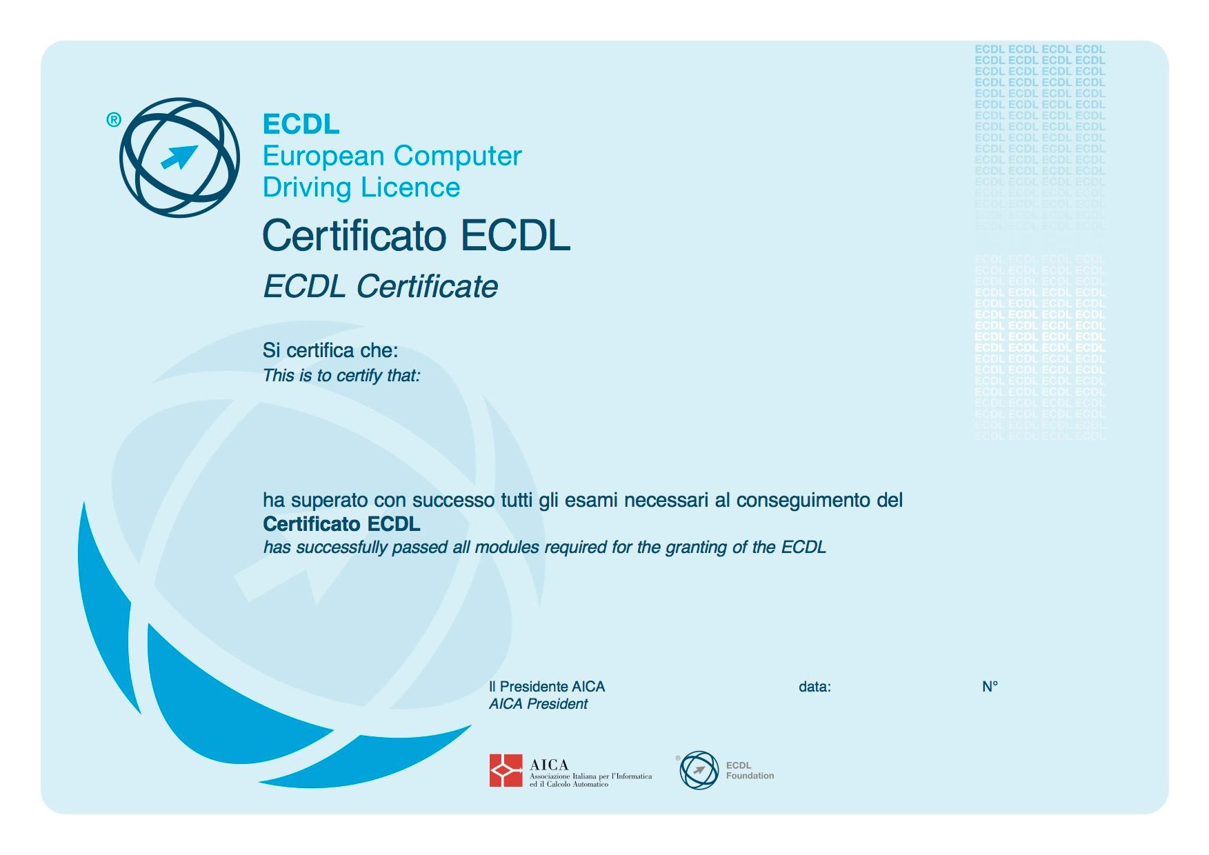 certificazione ECDL