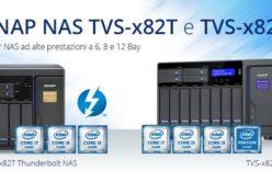QNAP presenta le due nuove serie NAS TVS-x82 e TVS-x82T Thunderbolt 2