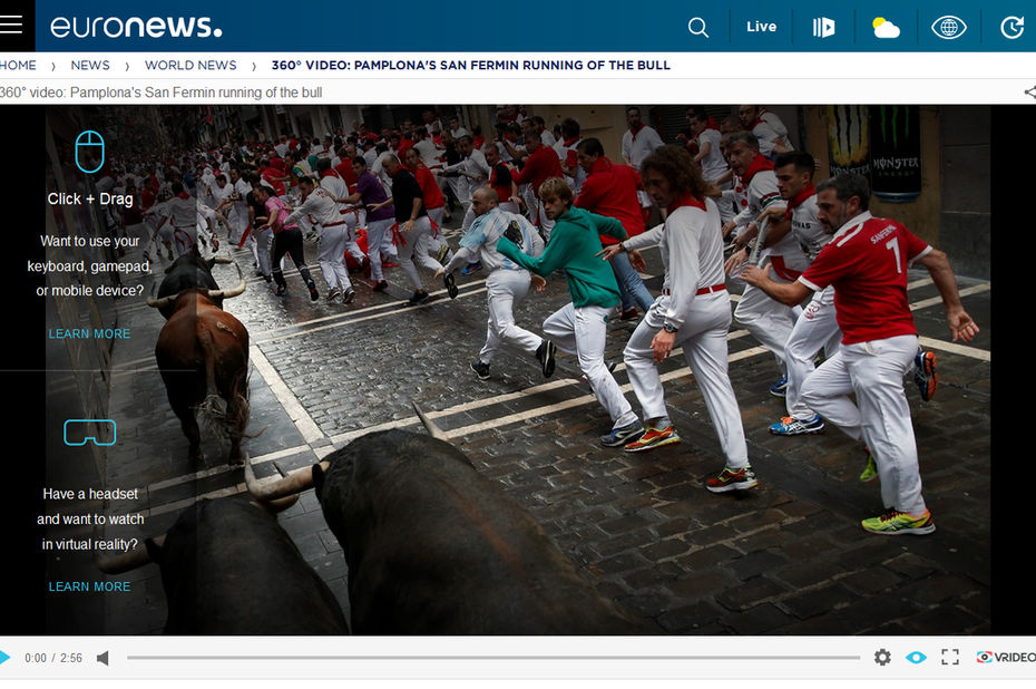 Euronews lancia i notiziari immersivi in collaborazione con Samsung Gear 360