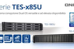 QNAP presenta TES-x85U, i NAS di classe enterprise con opzione dual OS