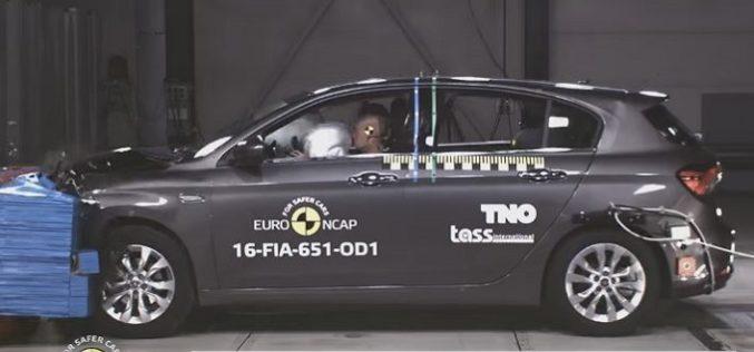 Crash-test Euro NCAP: Fiat Tipo, 4 stelle solo se dotata di AEB