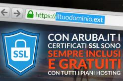 Aruba offre gratuitamente il certificato SSL a chi vuole rendere più sicuro il proprio sito