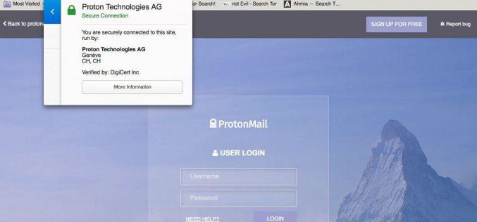 ProtonMail lancia il supporto alla navigazione da Tor