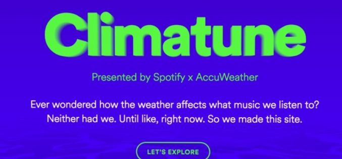 Spotify lancia Climatune, la playlist adatta a ogni tempo