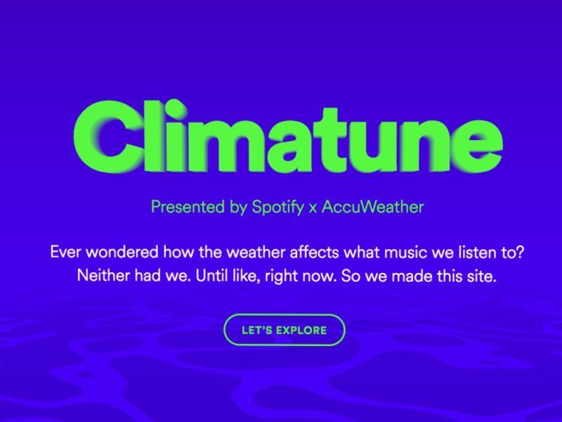 spotify climatune