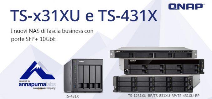 QNAP presenta TS-x31XU e TS-431X, i nuovi NAS di fascia business con porte SFP+ 10GbE