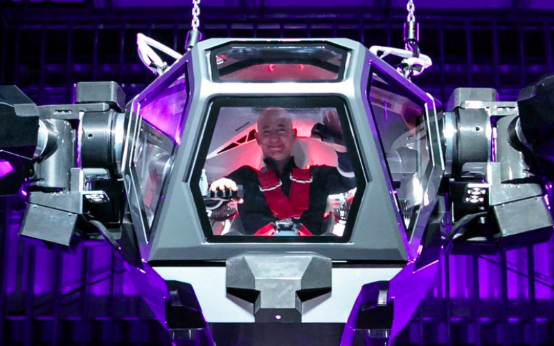 Jeff Bezos diventa pilota di mecha