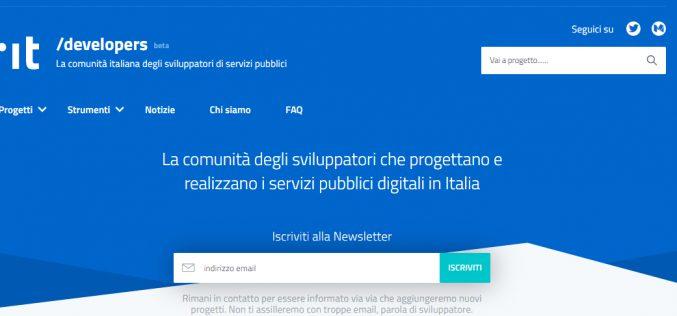 Nasce Developers Italia, la prima comunità di sviluppatori di servizi pubblici digitali