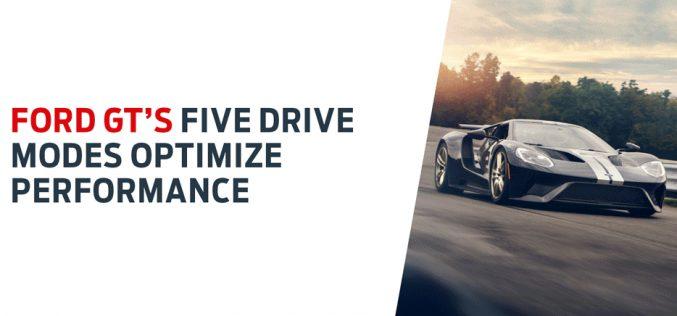 Ford GT: 5 modalità di guida per il massimo delle prestazioni su strada e pista