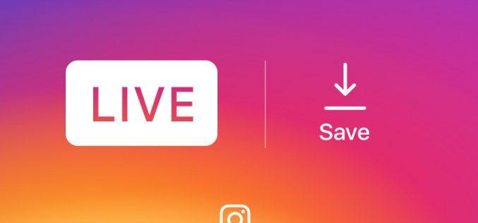 Instagram permette di salvare le dirette video