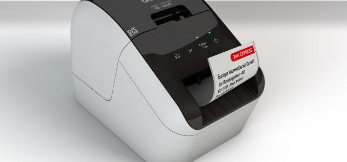 Serie QL-800 Brother: ora la stampa si colora di rosso