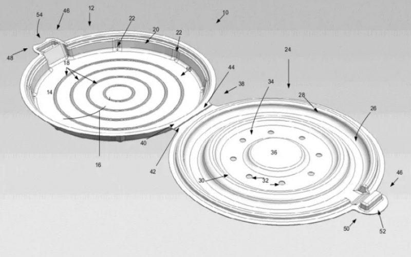 Apple: la scatola perfetta per la pizza è tonda e brevettata
