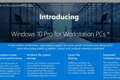 Windows 10: c'è l'edizione Pro Workstation PC