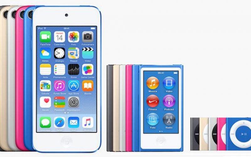 Apple interrompe la produzione di iPod Nano ed iPod Shuffle
