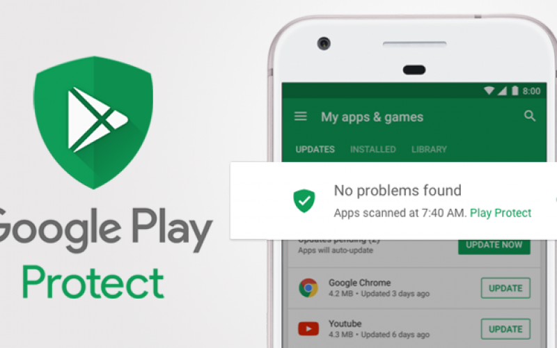 Google Play Protect ora disponibile per smartphone e tablet Android