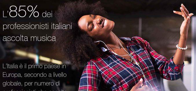 L'Italia è il paese europeo in cui si ascolta di più la musica a lavoro