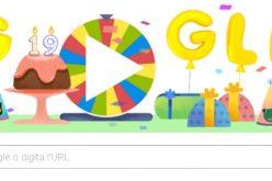 Google festeggia i suoi 19 anni con un doodle