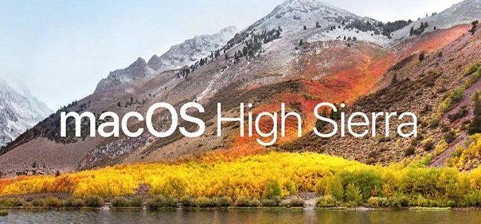 macOS High Sierra ha un problema con le password