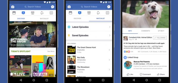 Facebook vuole trasformare Watch in YouTube