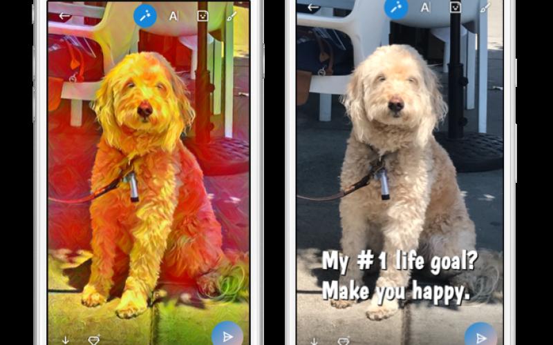 Skype diventa Snapchat con stickers ed effetti fotografici