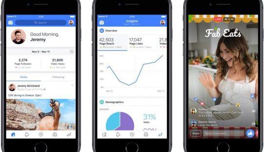 Facebook Creator, un'app per le star dei social media