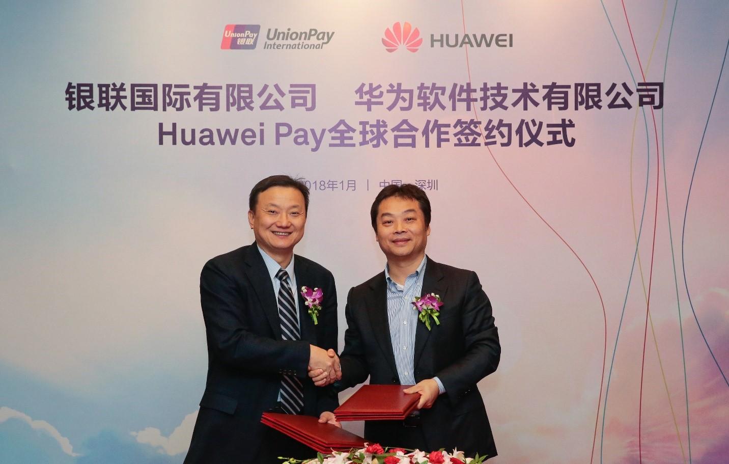 huawei pay unionpay