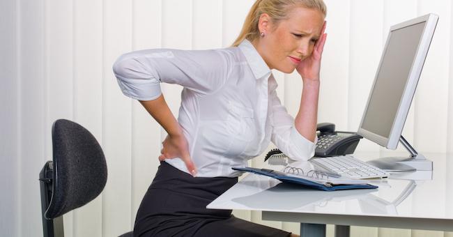 Dolori da ufficio, 8 persone su 10 ne soffrono