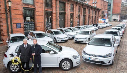 Gruppo Volkswagen, 50 e-Golf consegnate ad Amburgo