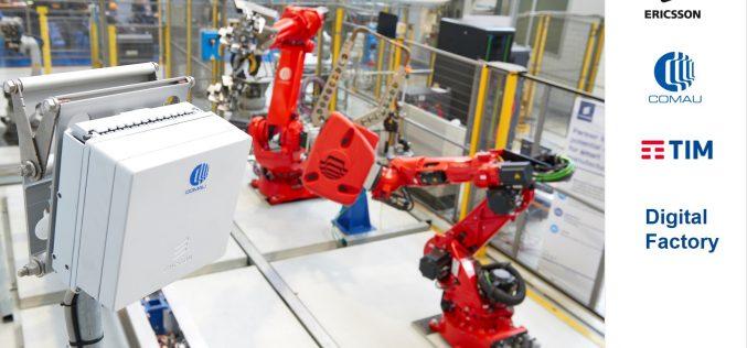 Ericsson, TIM e Comau abilitano la fabbrica del futuro attraverso 5G, robotica e machine learning