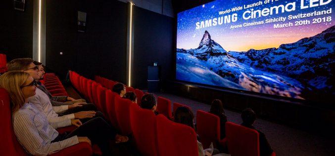 La Svizzera ospita lo schermo Samsung Cinema LED in prima assoluta per l'Europa