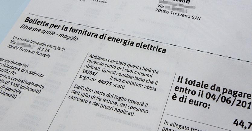 aumento bolletta energia
